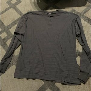 Other - Men's grey striped long sleeve